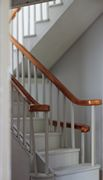 Bespoke Regency dolls house staircase with volute.