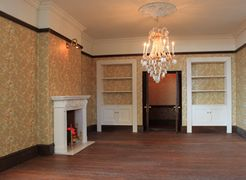 Bespoke Victorian dolls house Drawing Room.