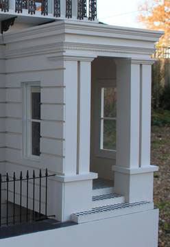 Georgian Dollshouse view of the Portico.