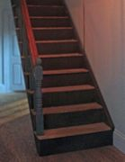 Georgian dolls house staircase.
