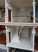 Georgian dolls house marbled staircase.