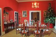 Georgian dolls house Christmas dining room.