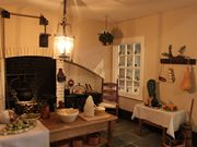 Georgian dolls house Christmas kitchen.