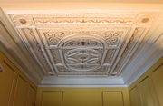 Georgian dolls house Robert Adam style plasterwork ceiling.