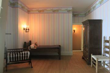 Regency dolls house child's bedroom