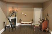 Regency dolls house interior view of boudoir