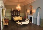 Regency dolls house interior view of drawing room