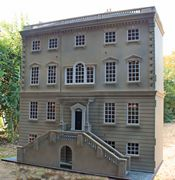 Georgian dolls house with steps.