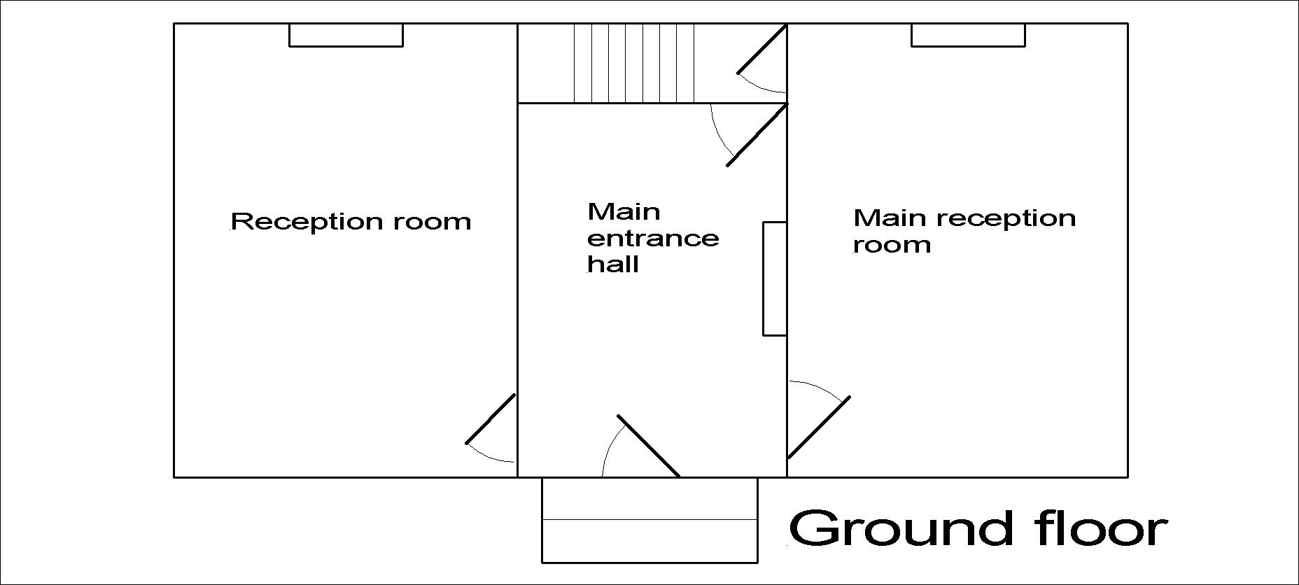 Georgian dolls house ground floor plan.