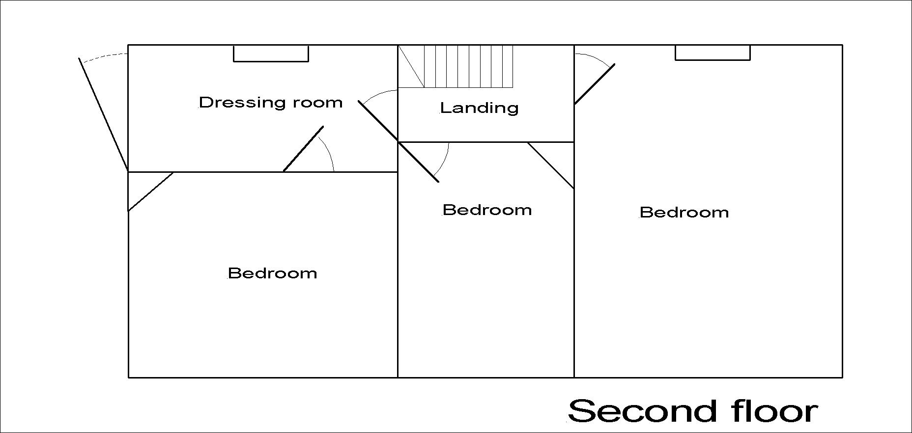 Lincoln Hall second floor plan.