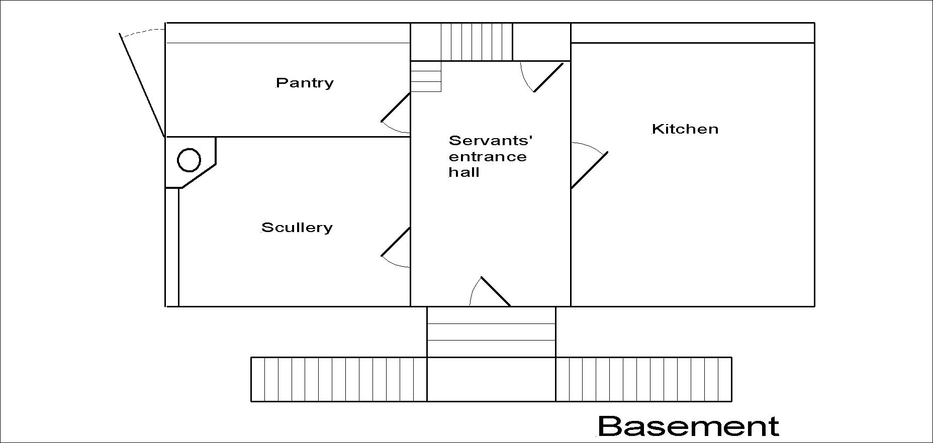Lincoln Hall basement floor plan.