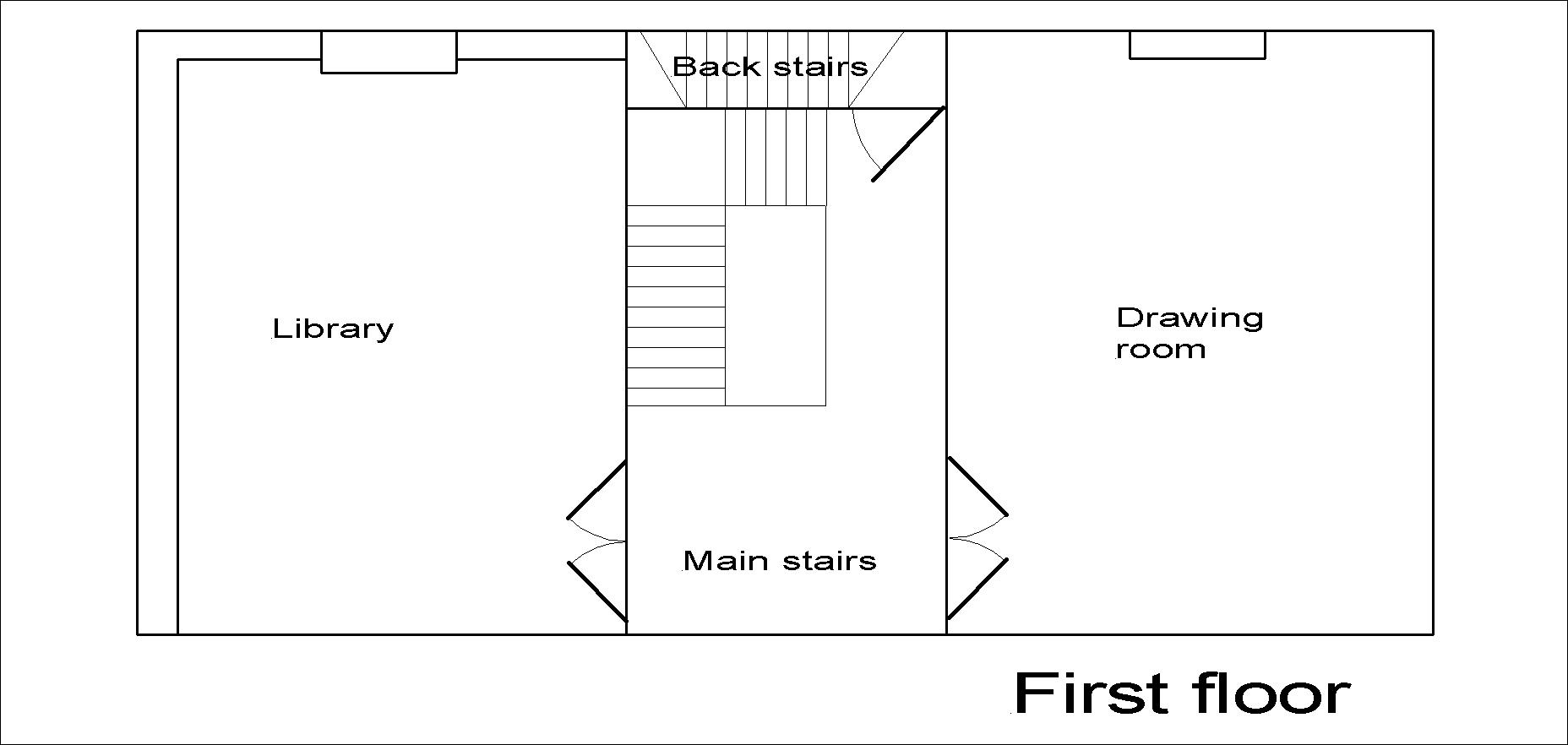 Lincoln Hall first floor plan.